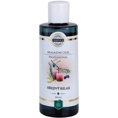 masážní olej - hřejivý relax