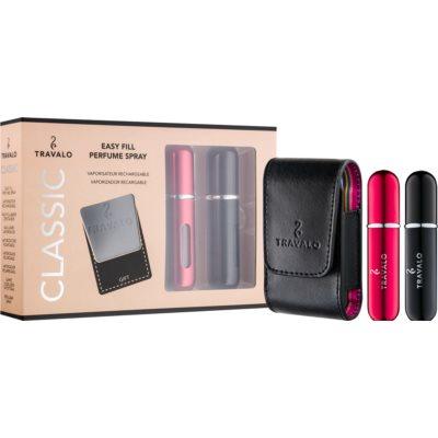 Travalo Classic lote de regalo V.  vaporizador de perfumes recargable 2 x 5 ml + estuche 6,5 x 8,5 cm