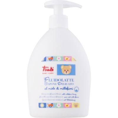 jemné dětské tekuté mýdlo s květinovým medem
