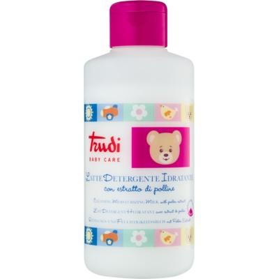 leite hidratante de limpeza com extrato de pólen para crianças