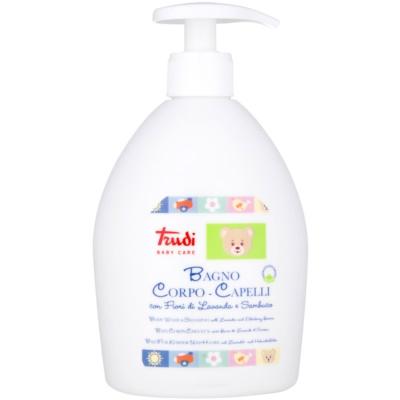 Trudi Baby Care παιδικό γαλάκτωμα και σαμπουάν μπάνιου με λεβάντα και λουλούδι μούρου