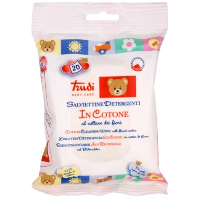 Trudi Baby Care Cotton Wet Wipes with Floral Nectar