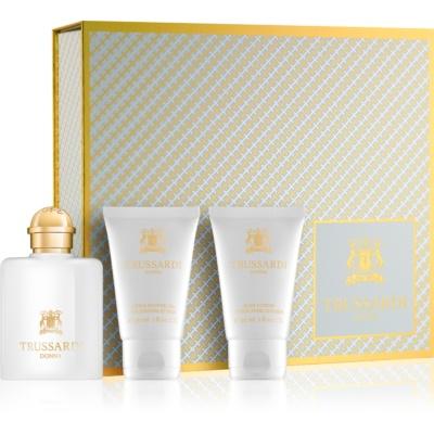 Trussardi Donna darilni set VI.  parfumska voda 30 ml + gel za prhanje 30 ml + losjon za telo 30 ml