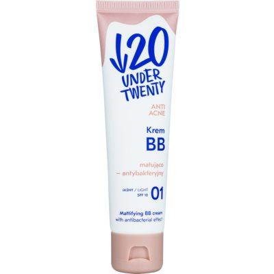 mattierende BB Creme mit antibakterieller Wirkung SPF 10