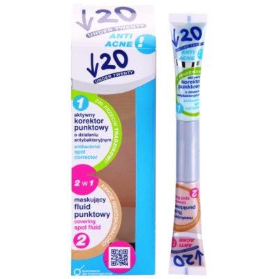 коректор проти недосконалостей шкіри з антибактеріальним ефектом 2в1