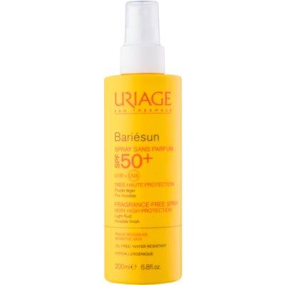 sprej na opalování bez parfemace SPF 50+