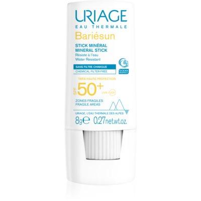 mineralna zaščitna paličica za občutljive predele kože SPF 50+