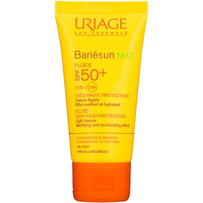 Uriage Bariésun Mat матуючий флюїд із зволожуючим ефектом SPF 50+