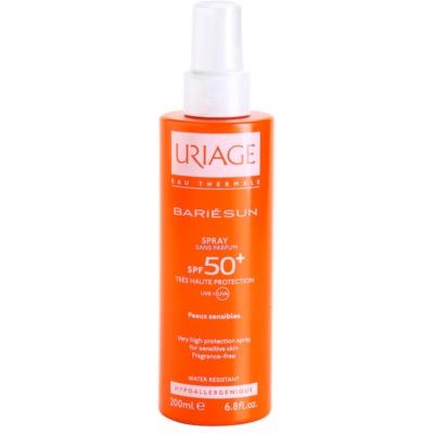 spray solar sin perfume  SPF 50+