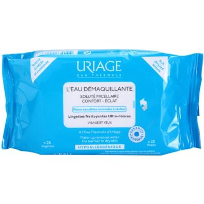 Uriage Hygiène кърпички за почистване на грим за нормална и суха кожа