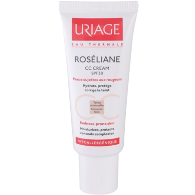 Uriage Roséliane CC Cream für empfindliche Haut mit der Neigung zum Erröten