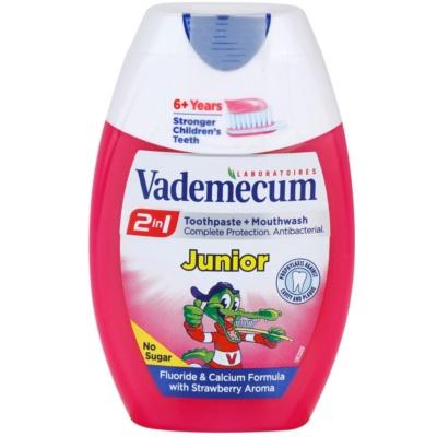 Vademecum 2 in1 Junior zobna pasta + ustna voda v enem