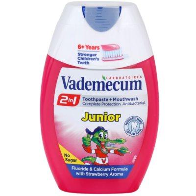 Vademecum 2 in1 Junior zubná pasta + ústna voda v jednom