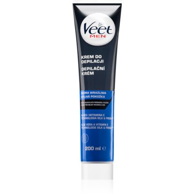 Veet Men Silk & Fresh хидратиращ крем- депилатор за чувствителна кожа
