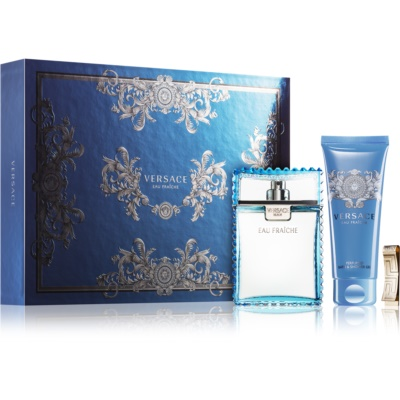 Versace Man Eau Fraîche Gift Set XXV.  Eau De Toilette 100 ml + Shower Gel 100 ml + money clip