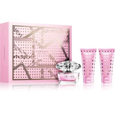 Versace Bright Crystal σετ δώρου XXIV.  Eau de toilette 50 ml + τζελ για ντούς 50 ml + λοσιόν σώματος 50 ml