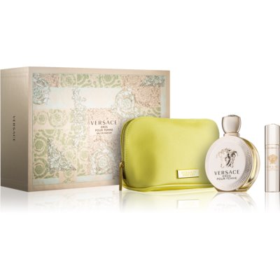 Versace Eros Pour Femme Gift Set XIV. Eau De Parfum 100 ml + Eau De Parfum 10 ml + Cosmetic Bag