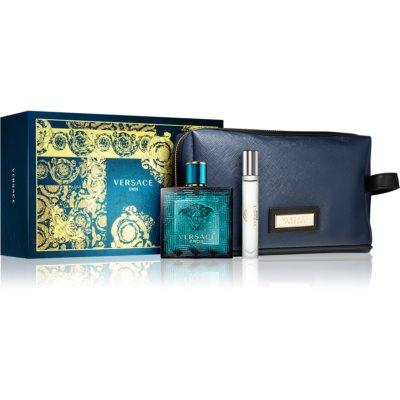 Versace Eros Gift Set X. Eau De Toilette 100 ml + Eau De Toilette 10 ml + Cosmetic Bag