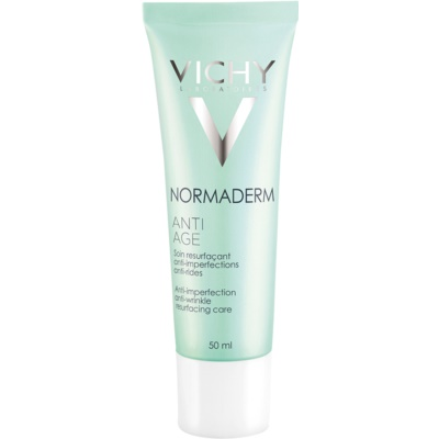 Vichy Normaderm Anti-age crema de zi pentru aparitia primelor riduri pentru ten gras si problematic