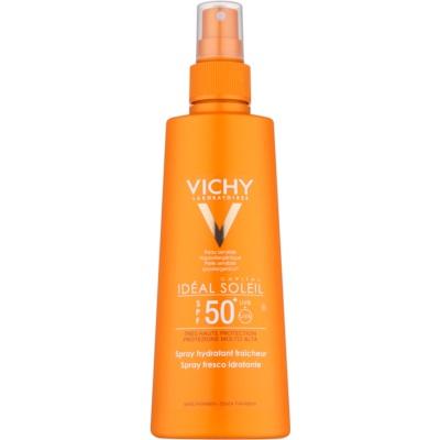 spray protector con efecto hidratante SPF 50+