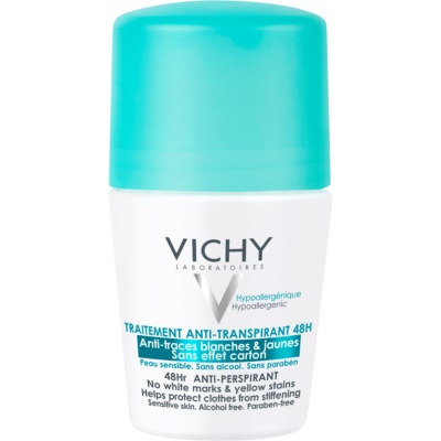 Vichy Deodorant antitranspirante roll-on anti-manchas amarillas y blancas