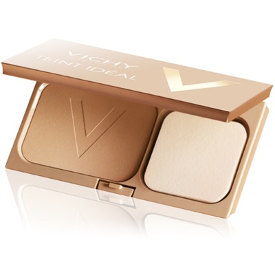 rozświetlający puder kompaktowy nadający skórze idealny odcień