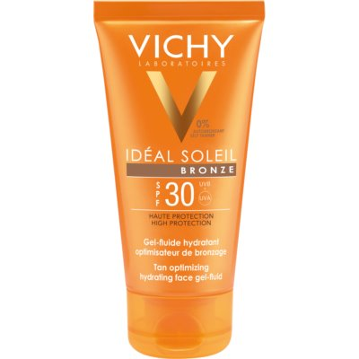 Vichy Idéal Soleil Bronze Feuchtigkeitsspendendes Gel - Gesichtsfluid zur Optimierung der Bräunung SPF 30