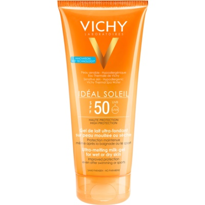 Vichy Idéal Soleil Ultra-Melting Milk Gel for Wet or Dry Skin SPF 50