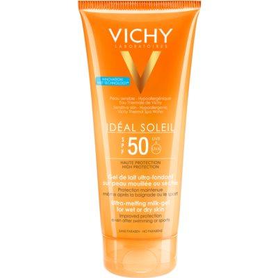 Gel leitoso para peles secas de fácil aplicação SPF 50