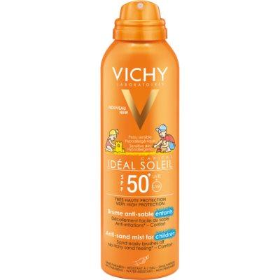 jemný ochranný sprej odpudzujúci piesok pre deti SPF 50+