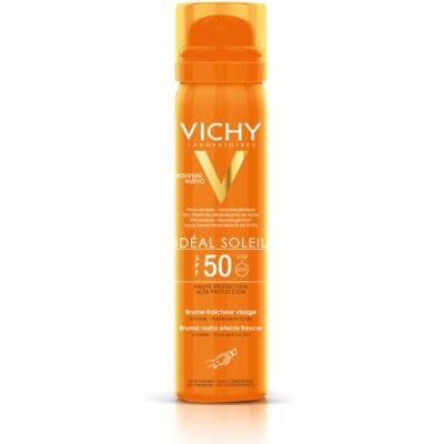 spray facial revigorant cu protecție solară SPF 50