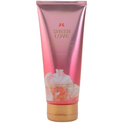 Victoria's Secret Sheer Love White Cotton & Pink Lily crema corporal para mujer