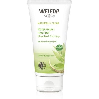 Weleda Naturally Clear озаряващ измиващ гел за проблемна кожа  100 мл.