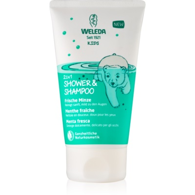 Weleda Kids Magic Mint Shower Cream and Shampoo for Children 2 in 1