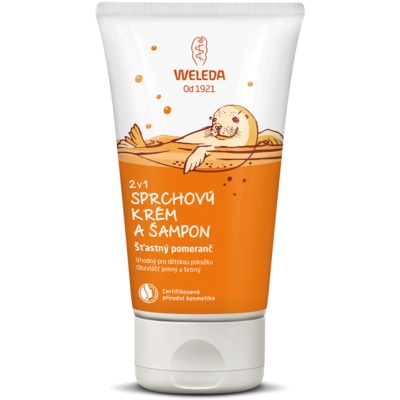 Weleda Kids Happy Orange crema e shampoo doccia per bambini 2 in 1