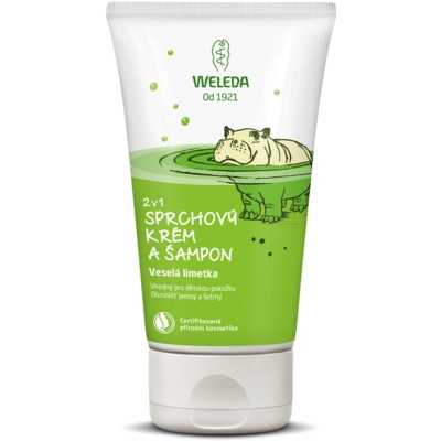 Weleda Kids Cheerful Lime douchecrème en shampoo voor kinderen 2 in 1