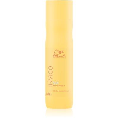 Wella Professionals Invigo Sun απαλό σαμπουάν για μαλλιά ταλαιπωρημένα από τον ήλιο