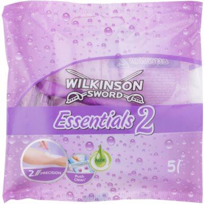 Wilkinson Sword Essentials 2 jednorazowe maszynki do golenia 5 szt. dla kobiet