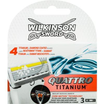 Wilkinson Sword Quattro Titanium Ersättningsblad 3 st