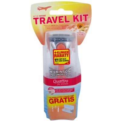 holicí strojek + 2 náhradní hlavice cestovní balení