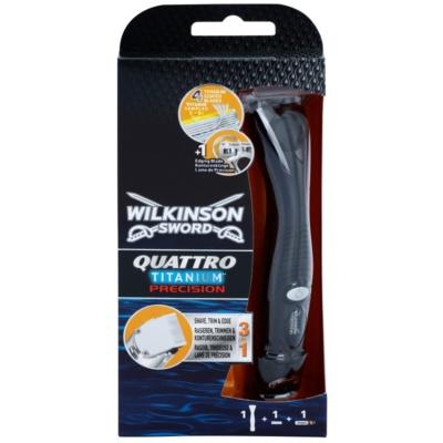 Wilkinson Sword Quattro Titanium Precision Trimmer en Scheerapparaat voor Natscheren