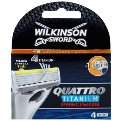 Wilkinson Sword Quattro Titanium Precision Replacement Blades 4 pcs