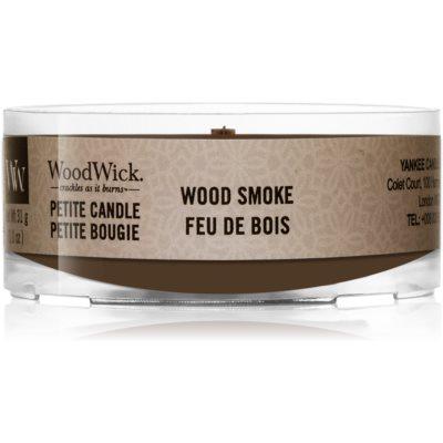 Woodwick Wood Smoke votiefkaarsen met een houten lont