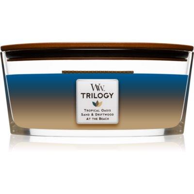 Woodwick Trilogy Nautical Escape świeczka zapachowa  453,6 g z drewnianym knotem (Hearthwick)