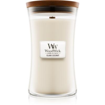 Woodwick Island Coconut bougie parfumée  grande