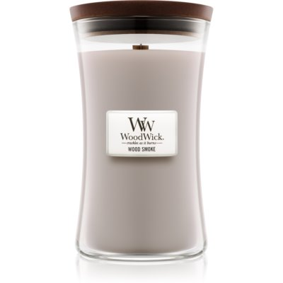 Woodwick Wood Smoke bougie parfumée  grande