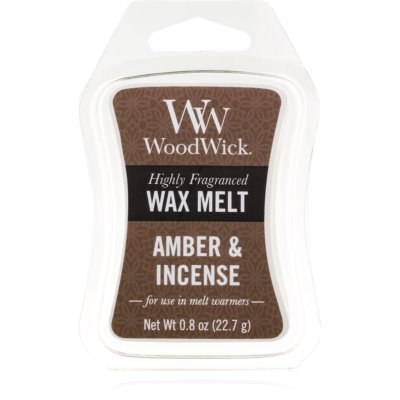 Woodwick Amber & Incense tartelette en cire