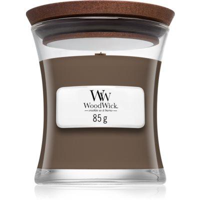 Woodwick Black Amber & Citrus ароматна свещ  85 гр. с дървен фитил