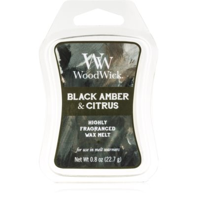 Woodwick Black Amber & Citrus Wax Melt  Artisan