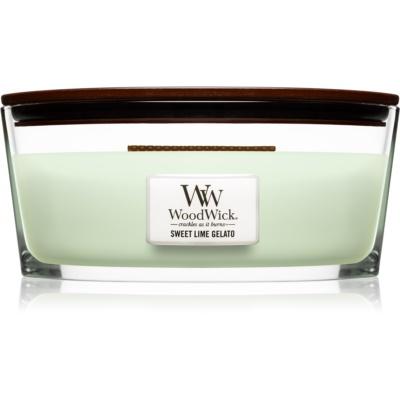 Woodwick Sweet Lime Gelato vonná svíčka  Hearthwick